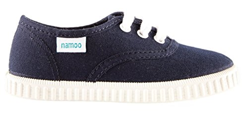 Namoo Kids Lace Sneaker for Boys and Girls, Cotton and Rubber Sole, Baby / Toddler / Kid Shoe (Navy) by Namoo (Image #6)