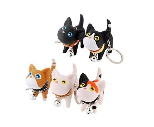 (LRRH 5 Pcs Cute Kate Cat Doll Key Rings)