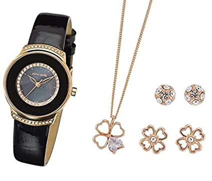 70dee1f1a Pierre Cardin Ladies Womens Wrist Watch Jewellery Set PCX312L212:  Amazon.co.uk: Watches