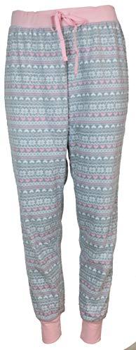 - Pillow Talk Women's Plush Micro Fleece Jogger Pajama Pants (Medium, Winter Fairisle)