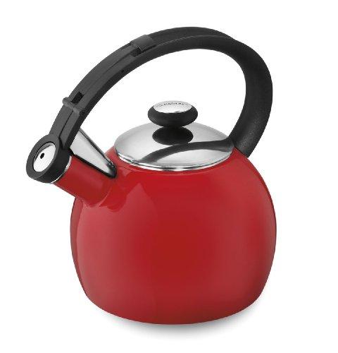Cuisinart CTK-EOS1R Omni Porcelain Enamel on Steel Tea Kettle, Red
