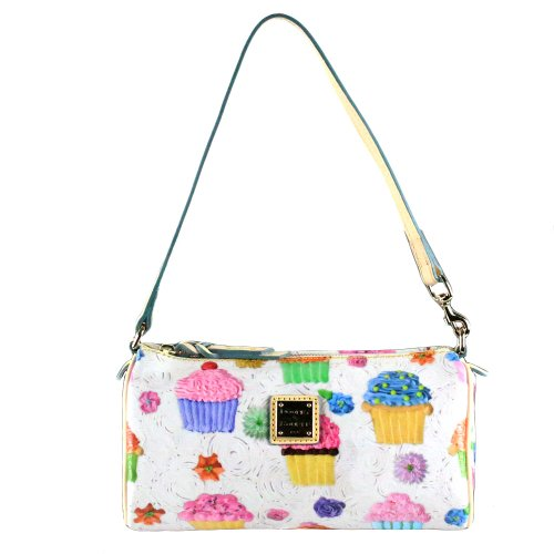 Dooney and Bourke Novelty Cupcake Small Barrel Purse White, Bags Central
