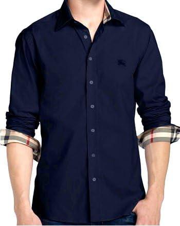 BURBERRY - Camisa casual - para hombre large: Amazon.es: Ropa y accesorios
