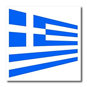 ht_163557_3 Florene Flags Of World Unique - Image of flag of Greece in contemporary form - Iron on Heat Transfers - 10x10 Iron on Heat Transfer for White Material