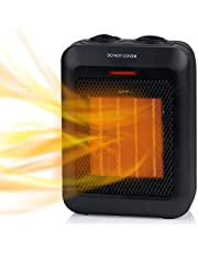 Brightown Portable Electric Space Heater: 1500W/750W Ceramic Small Heaters with Thermostat Heat Up 200 sq. Ft in Minutes|Safe & Quiet for Office Room Desk Indoor Use (Small)