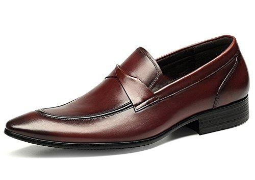 di pelle Red dimensioni 44 grandi in uomo XIE uomo punta singole pelle Scarpe 37 scarpe business in scarpe da da a casual 1gPzx