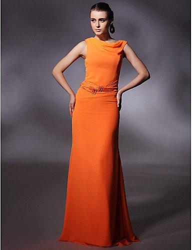 amp;OB con Cervical Longitud Bola HY Orange Crystal Guillotina Columna Noche Vestidos La De Salpicadero Oficiales Prom Chiffon Militares Vaina Piso Detallando Ribbon ZqnBtBdw