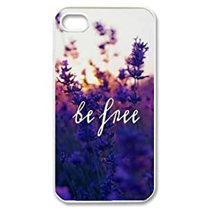 Be Free Unique Fashion Printing Phone Case for Iphone 4,4S,personalized cover case ygtg580981