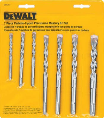 7-Piece Percussion Masonry Drill Bit Set