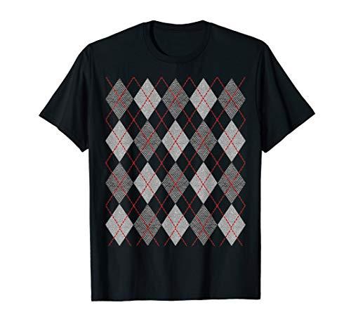 Retro Rockabilly Argyle Women Men | 1950s Clothing T Shirt