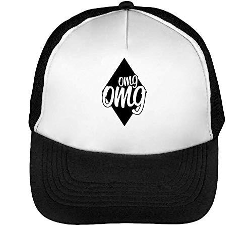 Omg Omg Graphic Gorras Hombre Snapback Beisbol Negro Blanco