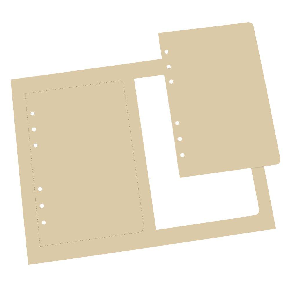Rite in the Rain Weatherproof Loose Leaf Copier Paper, 2-4 5/8 x 7 White Loose Leaf Sheets Per 8 1/2 x 11 Main Sheet, 150 Sheet PK (No. LL8511)