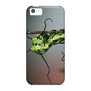 Kingsface Anti-scratch And Shatterproof Green Caterpillars cell phone case cover For FJMs4TcbHjR Iphone 5c/ High Quality Tpu case cover