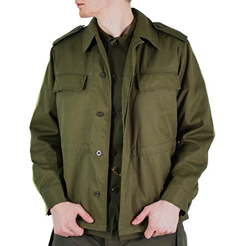 Original Vintage Czech Army Field Jacket M85 Olive Green Military Surplus Issue New (Medium Regular)