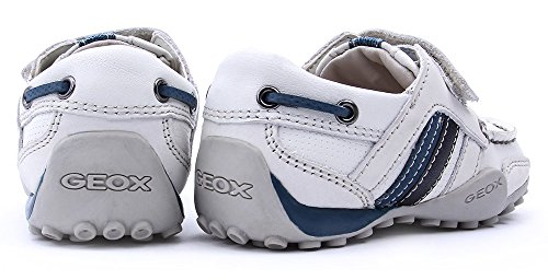 Geox bebé joven zapato Snake MOC S Off White/Avio b3216e 04332C1167(SGK de 28) Blanco - White/Avio