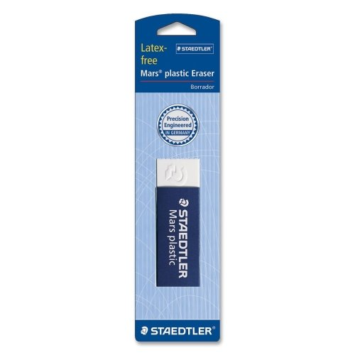 Wholesale CASE of 25 - Staedtler Mars Plastic Eraser-Plastic Eraser, Latex-free, 2-1/2''x7/8''x1/2'', White by Continental (Image #1)