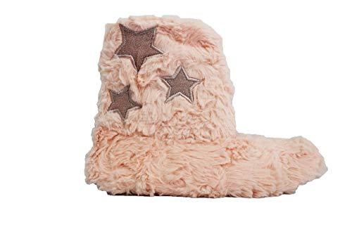 Pantofole Antiscivolo Bebè Fereti Gomma Donna Rosa Peluche Teddy Casa Stelle Calda Stivali Inverno HxwTwSpXq