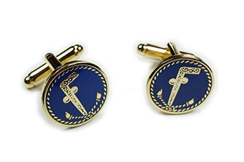 Tubal Cain Tubalcain Freemason Masonic Suit Cufflinks Cuff Links (Emblem Cufflinks)