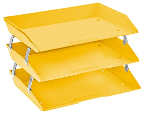 Acrimet Facility 3 Tiers Triple Letter Tray (Yellow Color)