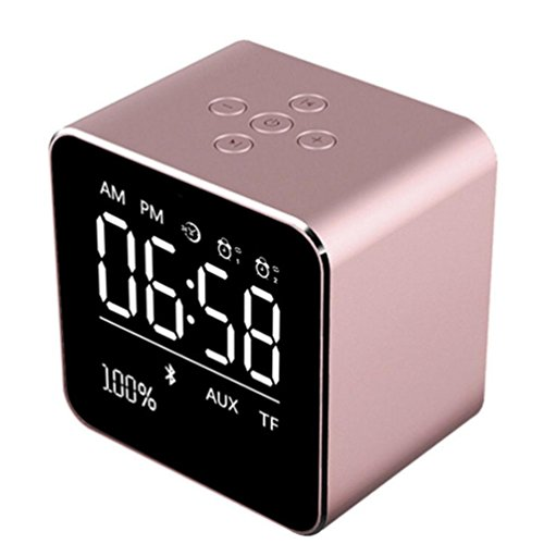 MChoice V9 Portable Wireless Metal Bluetooth Speaker Wireless Super Bass Mini Speaker (Rose Gold) ()