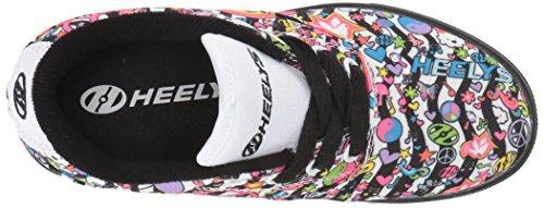Heelys Lancia La Scarpa Da Skate (bambino / Bambino / Bambino Grande) Nero / Bianco / Multi