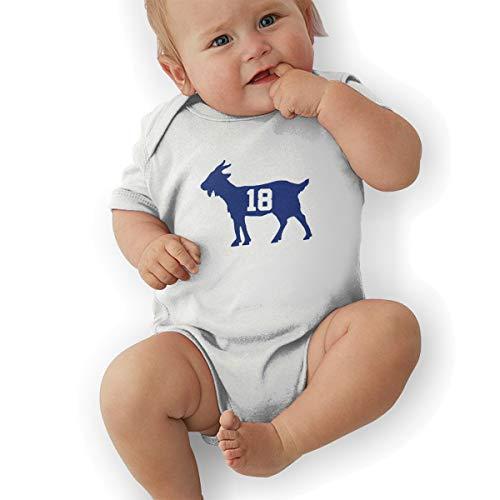 Moore Me Unisex Baby Onesie Bodysuit Blue Indianapolis Manning Goat Short-Sleeve Bodysuit for Boys and Girls ()