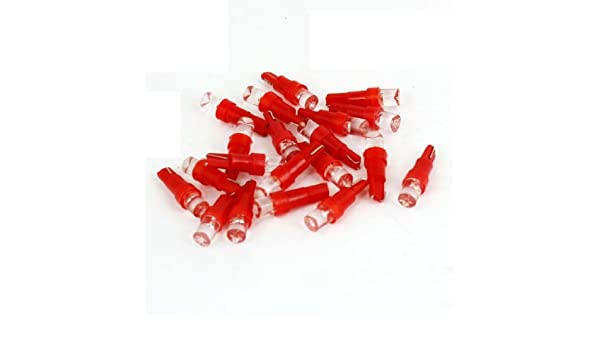 Amazon.com: eDealMax 20 Pcs T5 cuña cóncavos cabezal del LED Rojo de las Luces marcadoras laterales Bombillas DC 12V Para el coche: Automotive