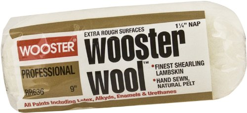 (Wooster Brush RR636-9 Wooster Wool Roller Cover 1-1/4-Inch Nap, 9-Inch)