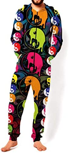 RsgeOn Buddha Pop Drippy Yin Yang Premium All Over Print Jumpsuit