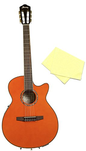 ibanez aeg10 nylon string cutaway acoustic electric guitar tangerine bundle with polishing. Black Bedroom Furniture Sets. Home Design Ideas