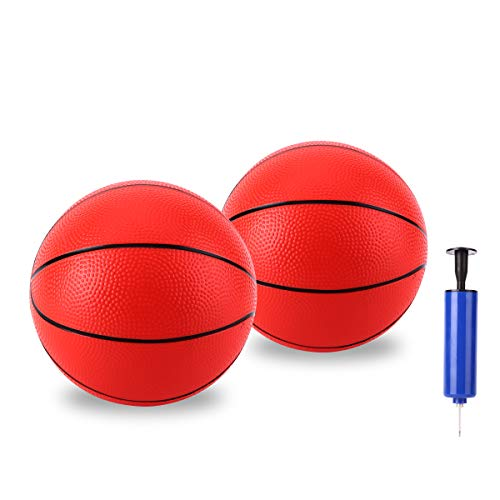 HUYIJJH Pool Basketball Replacement Mini Inflatable Ball Set Swimming Pool Water Kids Toy Indoor Outdoor Soft Durable with Pump for Toddler Adults (2 Pack)