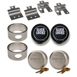 (Slick Locks Chevy GMC Swing Door Kit Complete with Spinners, Weather covers and Locks)