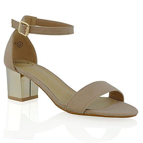 ESSEX GLAMFj-2 - Zapatos de tacón  mujer crudo (Nude Faux Suede)