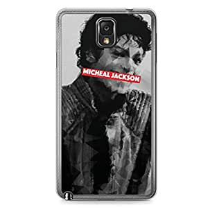 Micheal Jackson Samsung Note 3 Transparent Edge Case - Heroes Collection