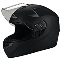 Full Face Black Street Bike Motorcycle Helmet by Triangle [DOT] (X-Large, Matte Black) by Zhejiang Jixiang Motorcycle Fittings Co., LTD