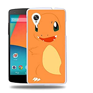 Case88 Designs Pokemon Charmander Protective Snap-on Hard Back Case Cover for LG Nexus 5