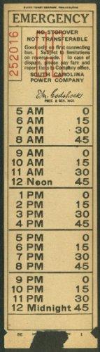 (South Carolina Power Co streetcar Emergency transfer Charleston SC 1938)