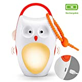 Baby Sleep Soother Sound Machines, Rechargeable, Portable White Noise Machine Baby Sound Machines with Night Light, 7 Soothing Sounds and 3 Timers for Traveling, Sleeping, Baby Carriage (owl)