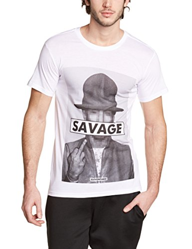 Eleven Paris Savrel M - Camiseta Hombre Weiß - Blanc (M99 White)