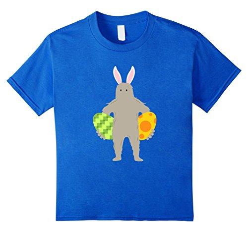 Kids FUNNY BIGFOOT EASTER BUNNY T-SHIRT Eggs Gift 10 Royal Blue (Bigfoot Costumes For Kids)