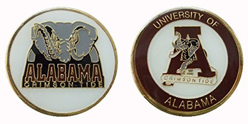 University of Alabama - Crimson Tide Collectible NCAA Challenge Coin Logo Poker / Lucky Chips & Gift Alabama Game Day Chip