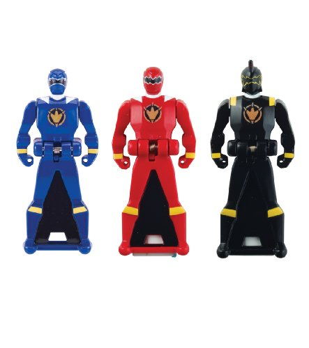 Power Rangers Ranger Dino Thunder - Power Rangers Super Megaforce - Dino Thunder Legendary Ranger Key Pack, Red/Blue/Black
