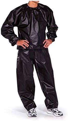 Tivollyff 防水防風PVCサウナスーツアンチリップトレーニングフィットネス減量スポーツサウナ服ソリッドカラージムスーツ