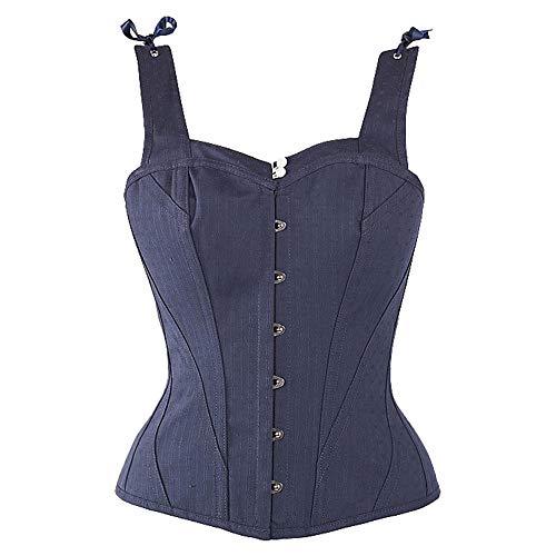 Clothing Cinturino Da Acciaio Donna Stile In Corsetto Gotico Sposa Women's Blue Giarrettiera Retro Acciaio Jacquard Punk Zddab Sexy Con dtw76qd4Z