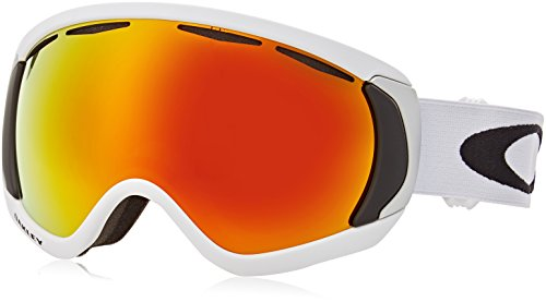 Oakley Men's Canopy Snow Goggles, Matte White, Fire Iridium, - Goggles Iridium Fire Ski Oakley