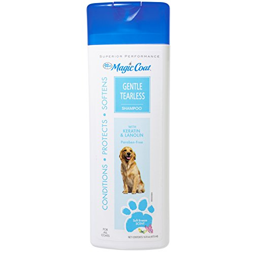 Four Paws Magic Coat Gentle Dog Grooming Shampoo, 16oz(Packaging may - Four Shampoo Magic Dog Paws Coat