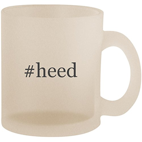 (#heed - Hashtag Frosted 10oz Glass Coffee Cup Mug)