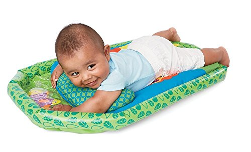 Earlyears Jungle Fun Tummy Time Mat – Cushioned Mat, Inflatable Base, & Support - Water Filled Playmat