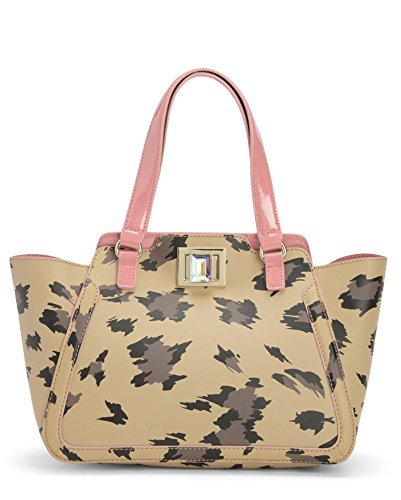 Juicy Couture Wild Thing Leather Small Wing Tote Bag, Natural Leopard