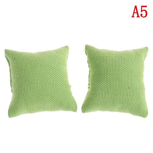 eSunny 2Pcs/Lot Newest Pillow Cushions for Sofa Couch Bed Without Sofa Chair 1/12 Dollhouse Miniature Furniture Toys Toddler Must Haves Friendship Gifts Girls Favourite Characters from eSunny